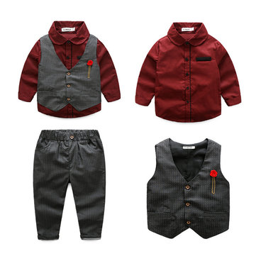 3Pcs Boys Formal Sets For 3Y-11Y