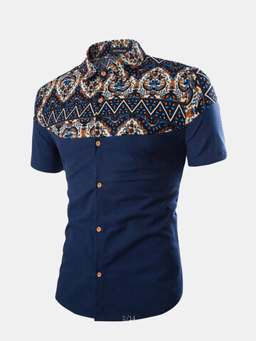 Ethnic Stylish Printing Patchwork Designer Shirts