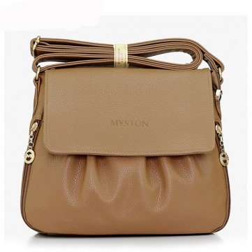MYSTON Women Casual Zipper Crossbody Bag Ladies Leisure Shoulder Bag, San blue black wine red khaki dark blue brown