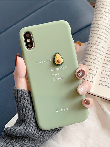 TPU Cute Three-Dimensional Avocado iphone Phone Case