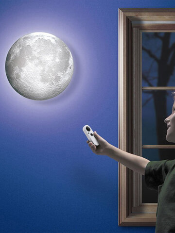 Relaxing Healing Moon Night Light 6 Kinds Phase Of The Moon LED Wall Moon Lamp With Remote Control