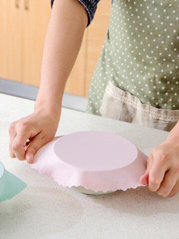 電子レンジ特殊シリコンラップホット野菜ボウルカバーフレッシュボウル透明密閉カバー冷蔵庫しがみつくフィルム