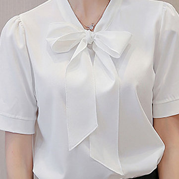 Bowknot Loose casual shirt