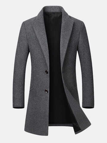 Gentlemanlike Wool Trench Coat