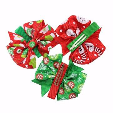 Kids Baby Bows Grosgrain Ribbon Hair Clip Headband Christmas Xmas Decoration Gift