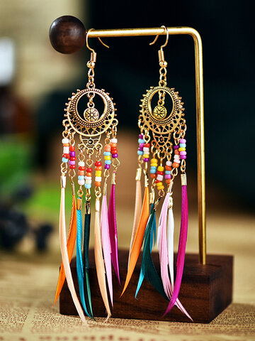 Alloy Tassel Earrings