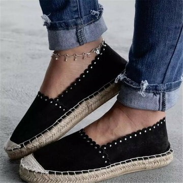 Slip On Espadrilles Flat Loafers