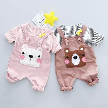 2Pcs Bär-Baby-Kleidungssatz für 0-24M