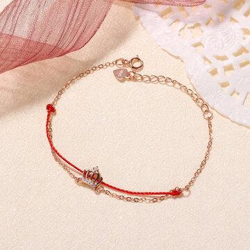 Lucky 925 Silver Crown Zircon Bracelets
