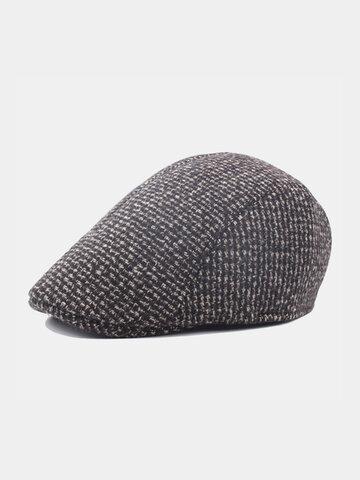 Woolen Solid Gatsby Flat Thick Beret Cap