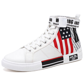 Men High Top Comfy Breathable Canvas Sneakers