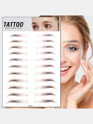 3D Eyebrow Tattoo Sticker