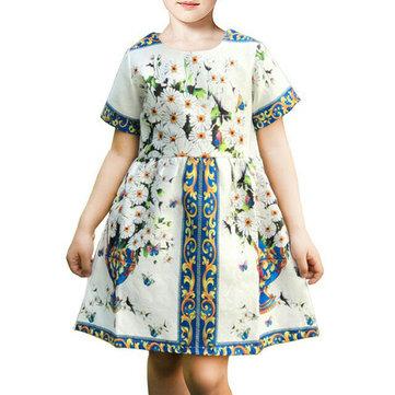 Robe de fête imprimée pour filles