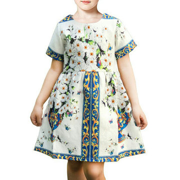 Printed Girls Party Dress