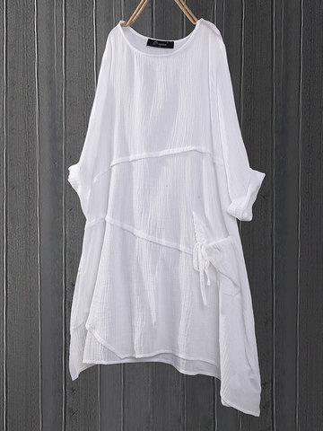 Blusa longa assimétrica