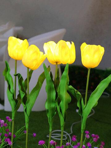 الشمسية القوة LED زهرة التوليب ضوء مصابيح الحديقة الموفرة للطاقة في الهواء الطلق مسار الحديقة ساحة الديكور مصباح المناظر الطبيعية