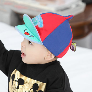 Baby Kids Cute Mixed Color Stripe Baseball Caps Toddler Peaked Beret Hat