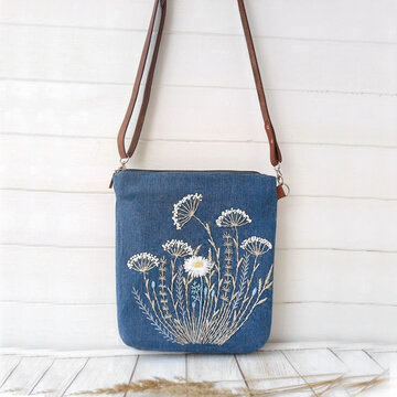 Women Embroidery Flower Bag Crossbody Bag
