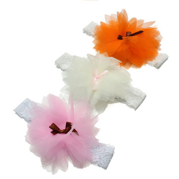 Baby Infant Girl Elastic Flower Lace Headband Hairlace Hair Band