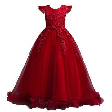 Flower Girls Princess Dress For 6Y-15Y