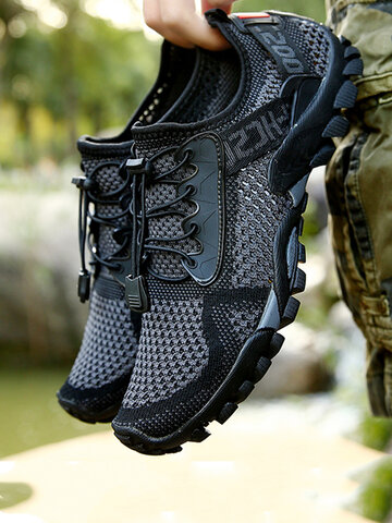 Men Knitted Fabric Water Shoes