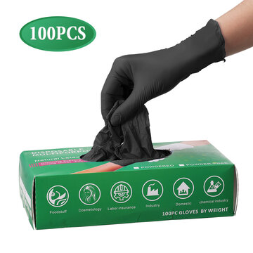 100PC Disposable Gloves Nitrile Food Safe Gloves