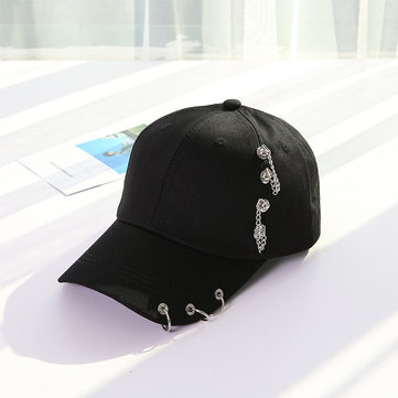 Unisex Casual Solid Adjustable Iron Ring Baseball Caps