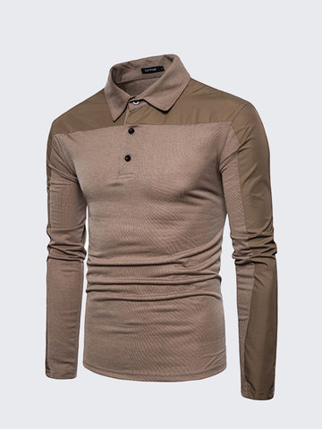 Brief Style Breathable Casual Golf Shirt