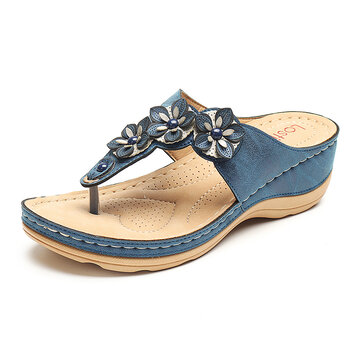 Color Match Flower Flip Flops