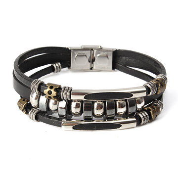 Punk Unisex Leather Bracelet