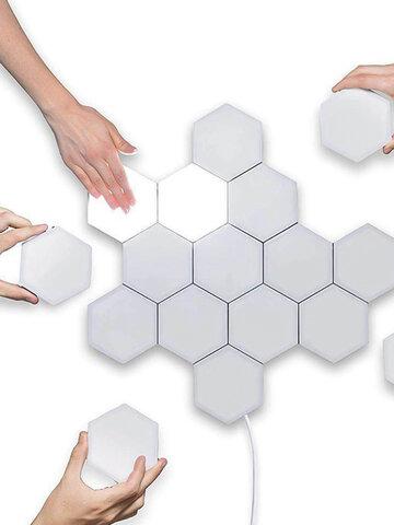 Luz táctil LED hexagonal