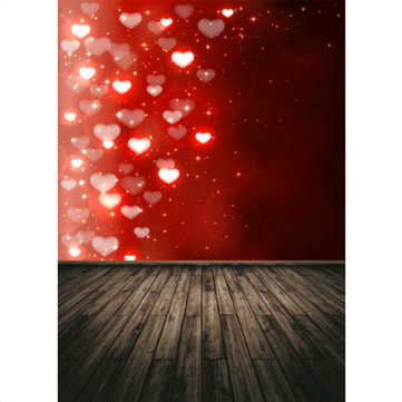 150x210cm Wooden Red Loves Photo Background Photo Studio Backdrop Home Deco Wall Hanging фото