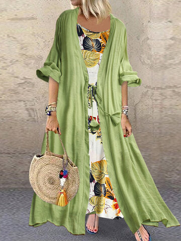 Vestido Bohemian Print Knot Two Pieces