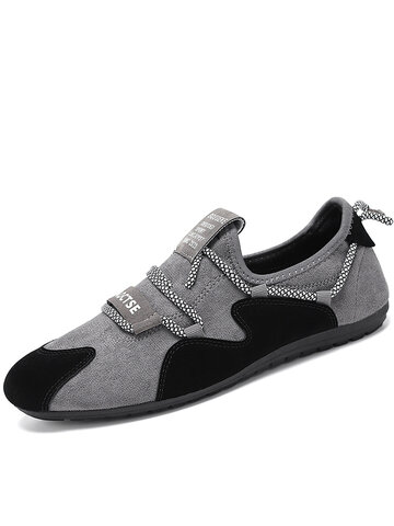 Men Colorblock Synthetic Suede Casual Driving Shoes