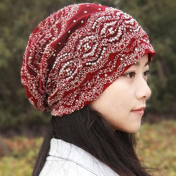 Gorro de cola de caballo flexible de encaje lindo Sombrero