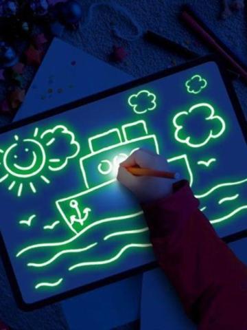 光で描く-楽しくて開発中のタブレットおもちゃDIY教育用照明ライト製図板ダークキッズペイントおもちゃ