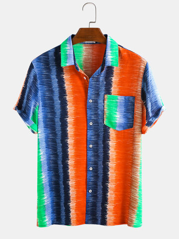Colorful Stripe Hand Drawn Doodle Shirt
