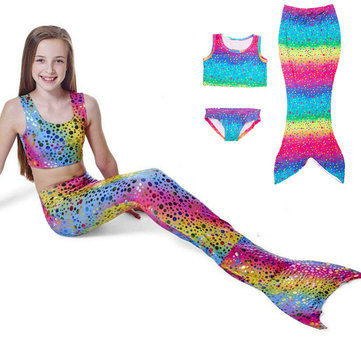 Princess Girls Little Mermaid Bikini Suits