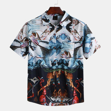 Mens Renaissance Printed Casual Shirts
