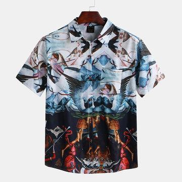 Mens Renaissance Printed Casual Shirts