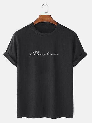 レタースクリプトプリントTシャツ