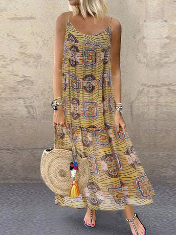 Ethnic Print Summer Dress