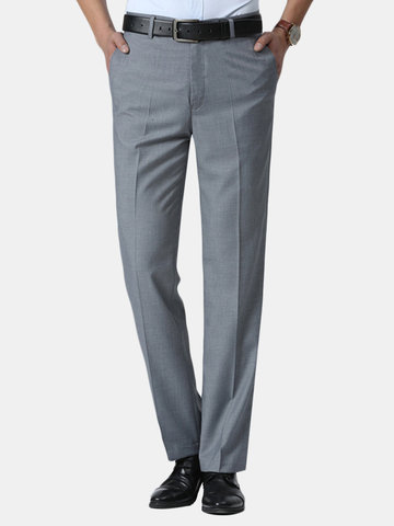Solid Color Slim Business Pants фото