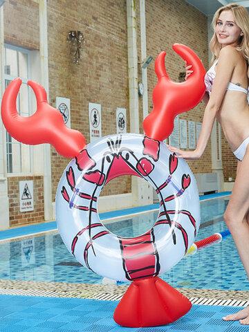 Anillo de natación inflable para cangrejos de río, cama flotante, montaje en agua, red de fila flotante para animales, anillo de natación súper grande rojo