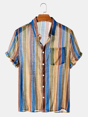 Transparent Colorful Striped Shirts