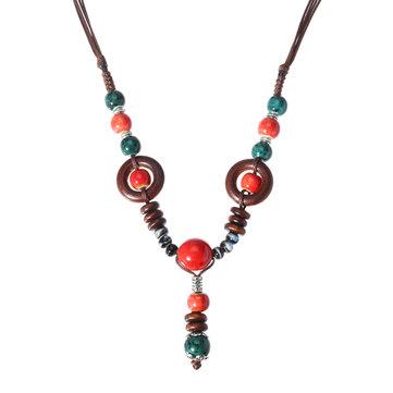 Perlen Pullover lange Halskette
