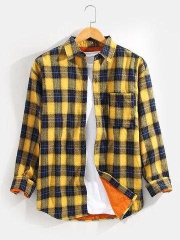 Tartan Thick Lined Warm Shirt Jacket