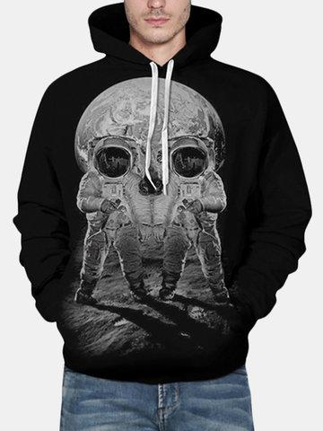 Moletom Masculino 3D Esqueleto Estampado