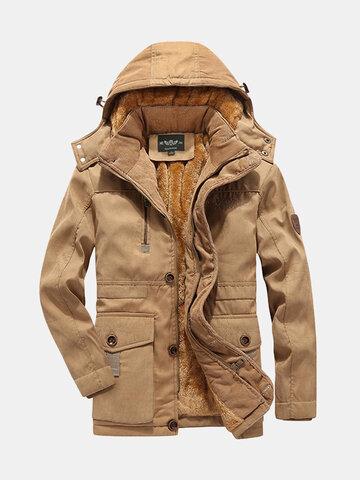 Winter Inside Thicken Hooded Jacket