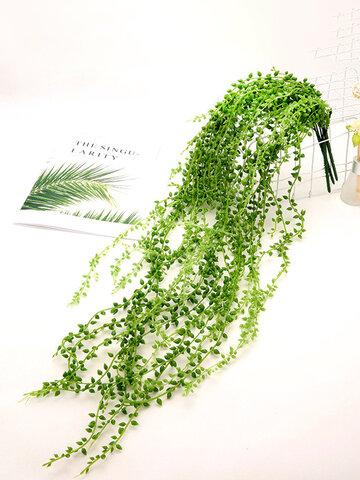 1 pz 78/90 cm simulazione artificiale pianta perline succulente falso appeso a parete vite rattan stringa di perle lacrime amante piante per la casa festa di nozze decorazioni da giardino piante finte